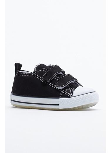 Tonny Black Siyah Çocuk Spor Ayakkabı Işıklı Cırtlı Tb997 Siyah